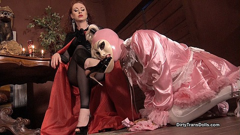 Stiletto worship by our sissy maid