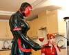 Stretched rubber maid. Katrina, the rubber maid will be put to the test by femdom Red and Fetish Liza. Click here to see more.